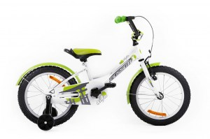 Kids Bike NINJA 16 WHITE-GREEN