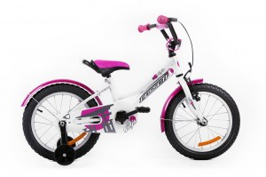 Kids Bike NINJA 16 WHITE-PINK