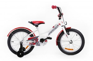Kids Bike NINJA 16 WHITE-RED