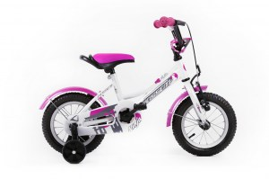 Kids Bike NINJA 12 WHITE-PINK