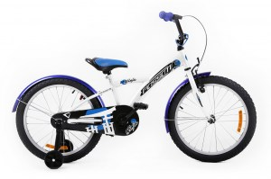 Kids Bike NINJA 20 WHITE-BLUE