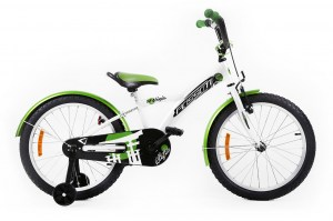 Kids Bike NINJA 20 WHITE-GREEN